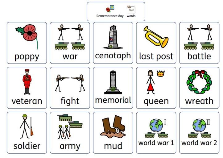 Remembrance day poppy wordmat