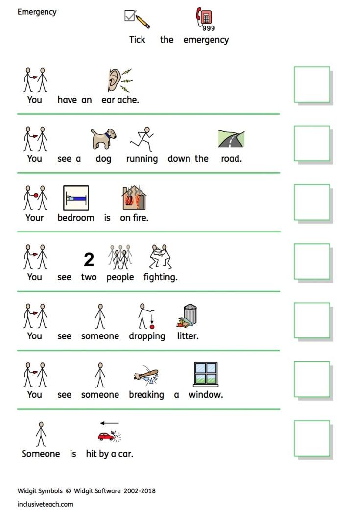 People that help us: Printable Resources. Free SEN worksheets