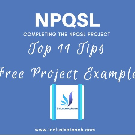 Blog post with free exampler NPQSL project education leadership