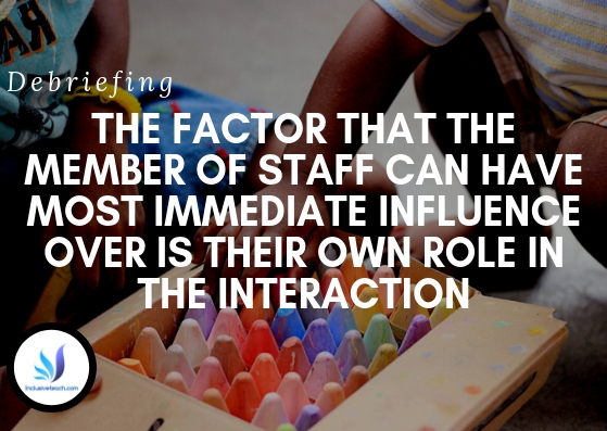 the factor that the member of staff can have most immediate influence over is their own role in the interaction.jpg