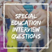 Special Education Interview Guide