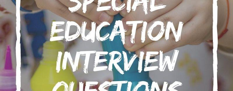 SEN teacher interview questions