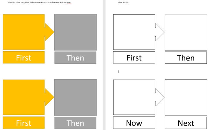 Now and Next transition visual template