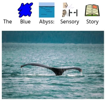The Blue abyss A Sensory Story book cover