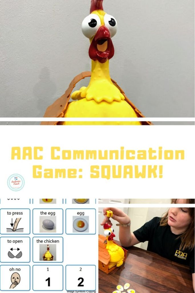 AAC Game: Squawk the chicken. Communication and interaction resources.