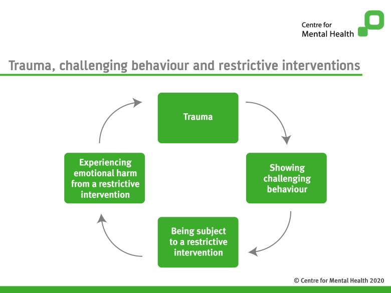 Trauma challenging behaviour and restrictive intervention cycle