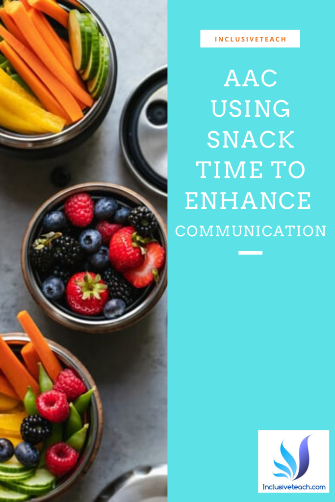 Using snack time to enhance communication AAC SEND
