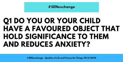 Do you or your child have a favourite object that holds significance to them and reduces anxiety? Quality of life
