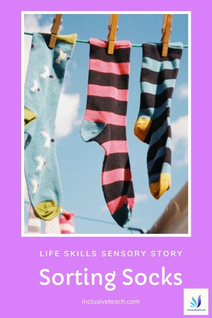 Sorting Socks Life skills sensory story