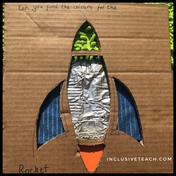 Sensory tactile rocket PMLD literacy activity