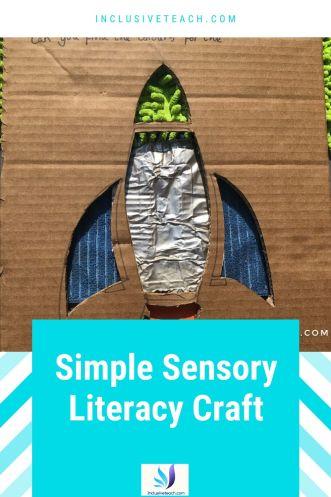 Simple sensory craft idea. Tactile story ideas.