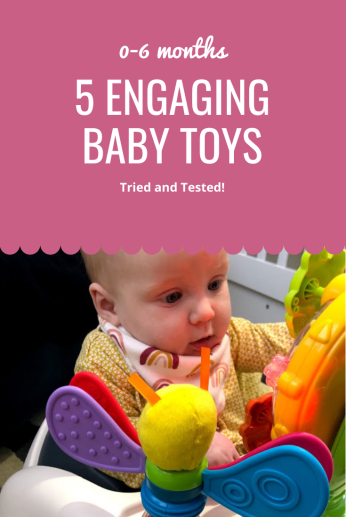 Engaging baby toys for presents and development. 0-6 months