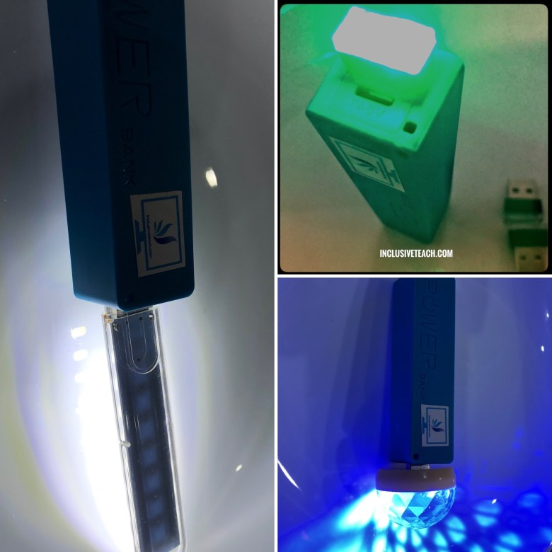 3 USB lights for sensory storytellling