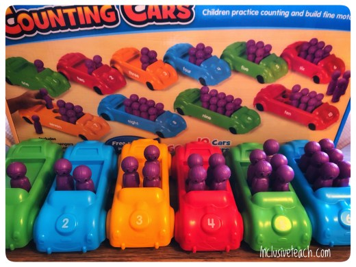 Colourful counting cars maths manipulatives SEN