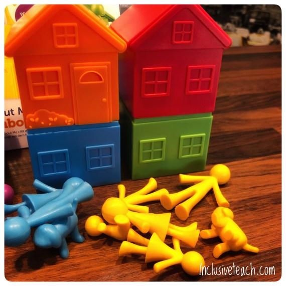 stacking houses fine motor family SEN