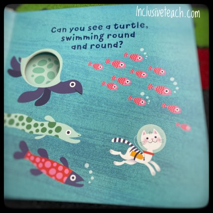 Fish and sea turtles baby book