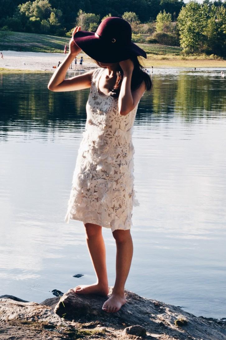 white lace dress, rebecca taylor, luxurymaman