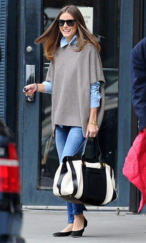 olivia palermo, poncho, fall fashion, luxurymaman