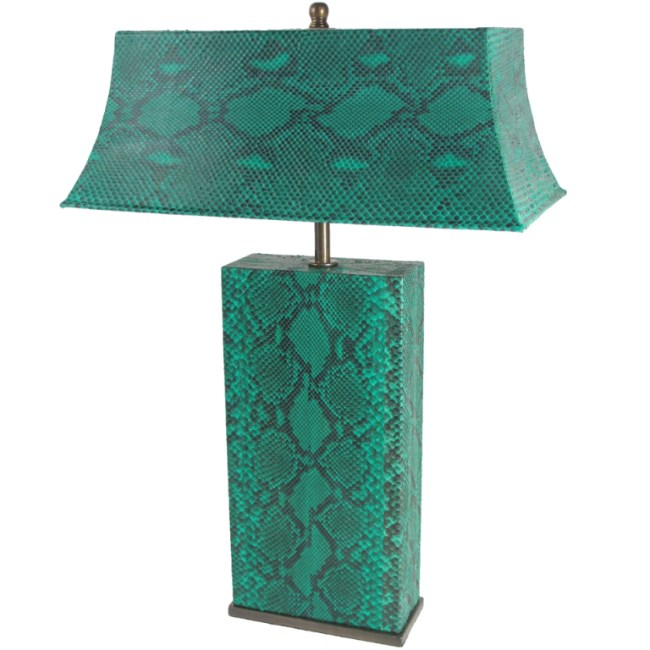 Karl Springer Table Lamp in Python, going for $4,500 on 1stdibs.com