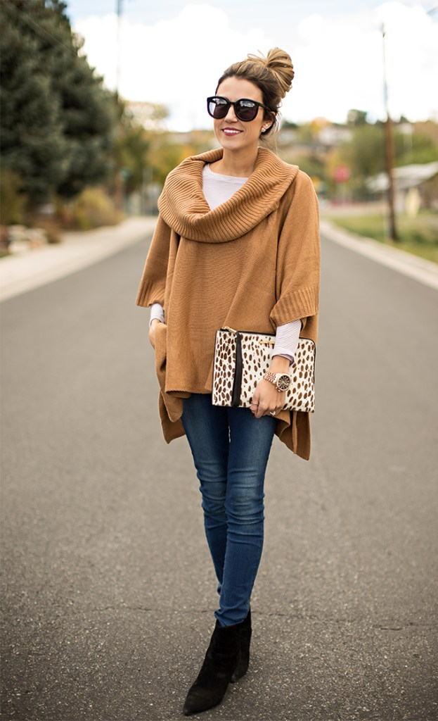 fall fashion, poncho, women's fashion, luxurymaman