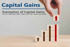 Exemption of Capital Gains under Sections 54, 54B, 54D, 54EC, 54EE, 54F, 54G. 54GA and 54GB