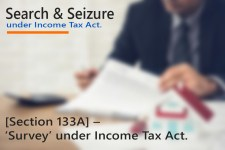 [Section 133A] - 'Survey' under Income Tax Act.