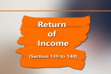 Return of Income [Section 139 to 140]