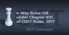 e-Way Rules 138 under Chapter XVI of CGST Rules, 2017 – Generation of e-Way Bill for Movement of Goods