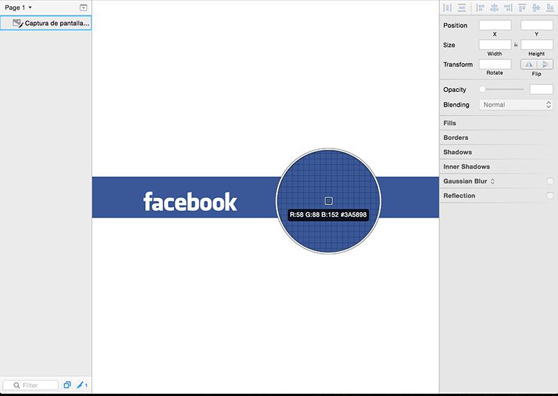 Calculando el color corporativo de Facebook desde Sketch