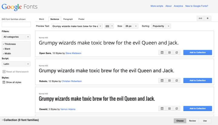Google fonts, la herramienta de Google para insertar fuentes en nuestras webs.