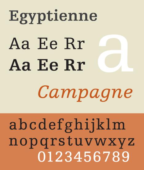 Ejemplo de una tipografía tipo Slab