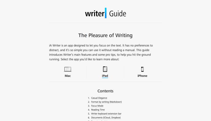 Writter, un ejemplo inspirador de cómo usar las fuentes en un proyecto web.