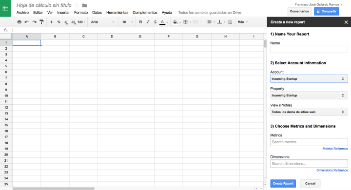 Configurando un informe.