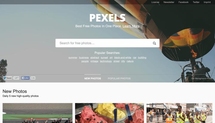 Pexels: mi favorita.