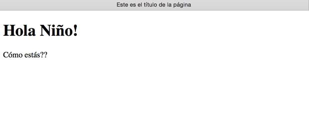 Y así se ve en nuestro navegador.