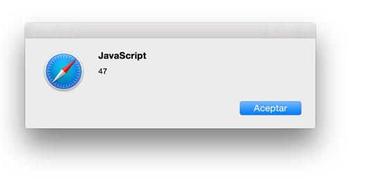 Mostrando un entero en una alerta con Javascript.