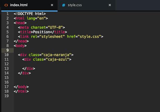 Nuestro html.