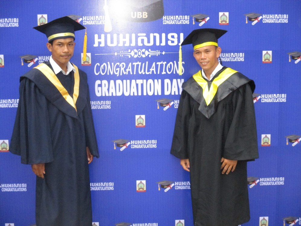 Bunteoun Ok's studies in agriculture at the University of Battambang were funded by IC4C. He has just graduated!