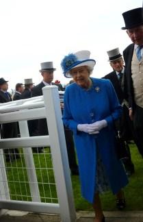 Her Majesty Queen Elizabeth II looking spectacular in hyacinth blue