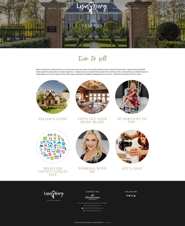 Lisa Berg Real Estate Website Design Sellers