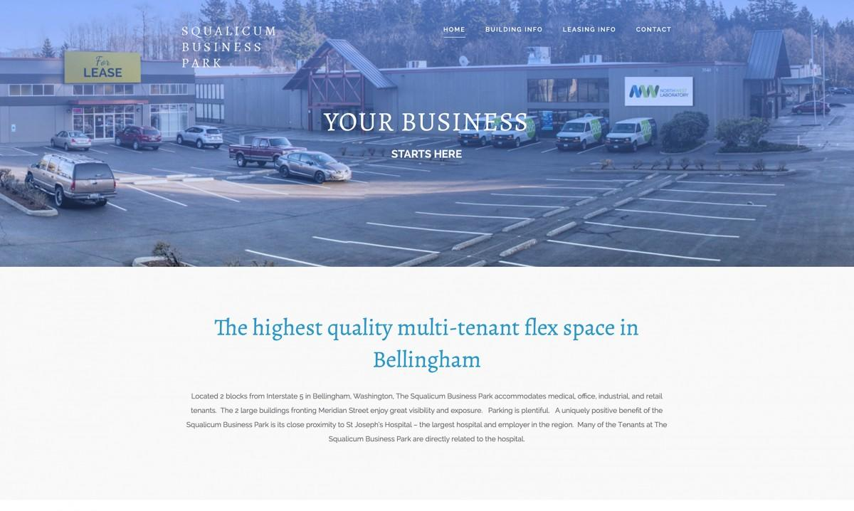 squalicum business park home page design