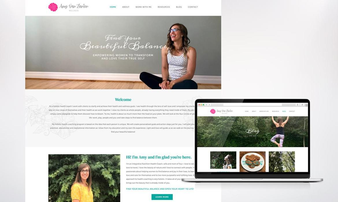 amy van zanten website design and development