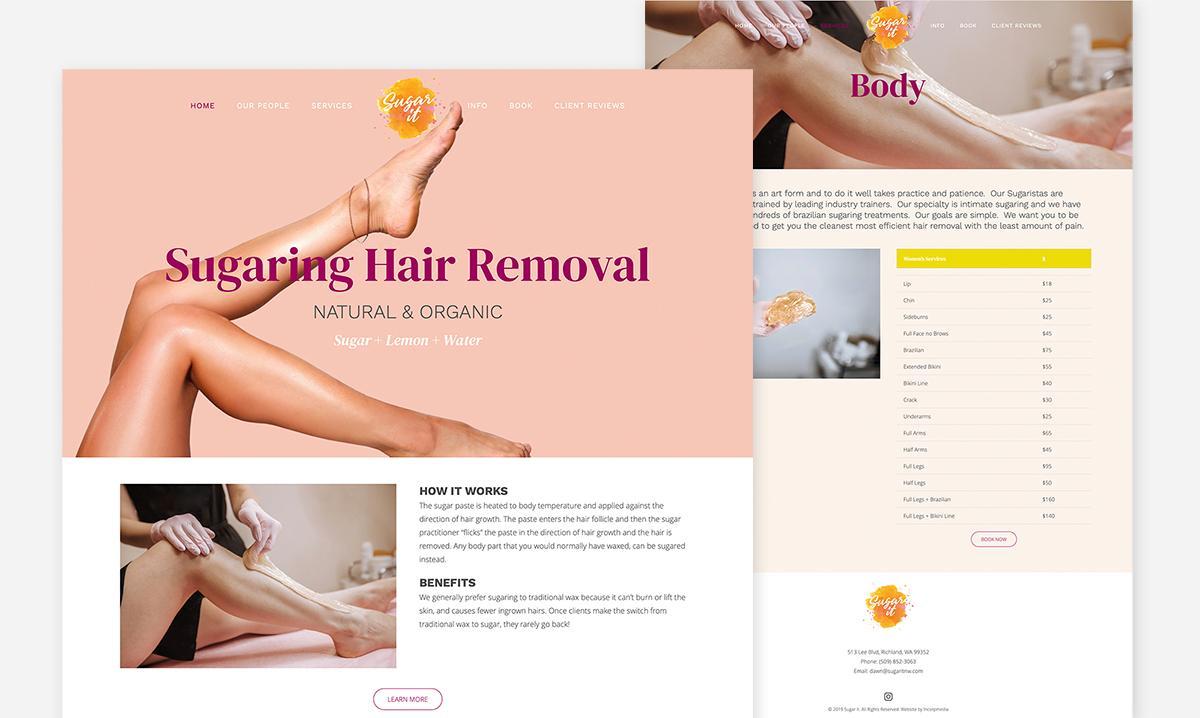 Sugar It Website Design by Incorpmedia