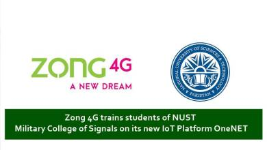 Photo of Zong 4G trains students of NUST (MCS) on its new IoT Platform OneNET