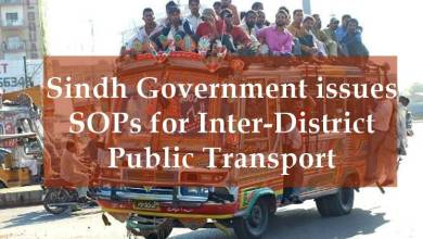 Photo of Sindh Govt issues SOPs for Inter District Public Transport