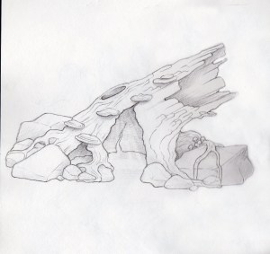 Log, Concept Sketch, Incredible-Creations, Victoria Morris, Lee Nicholson, Dragon, Sculpture, Climbing, climbable