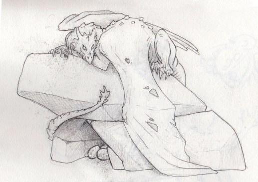 Zeta, Dragon, Incredible creations, concept sketch, Sculpture