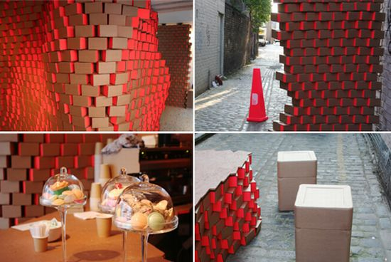 cardboard design cafe london design festival M9y4g