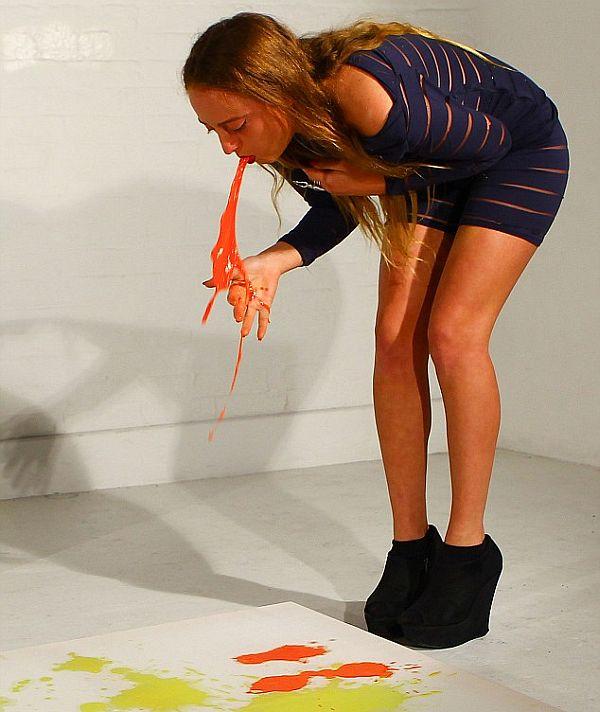 Millie Brown's Vomit Paintings_