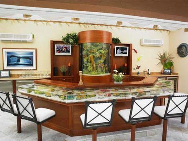 fish tank cum bar table